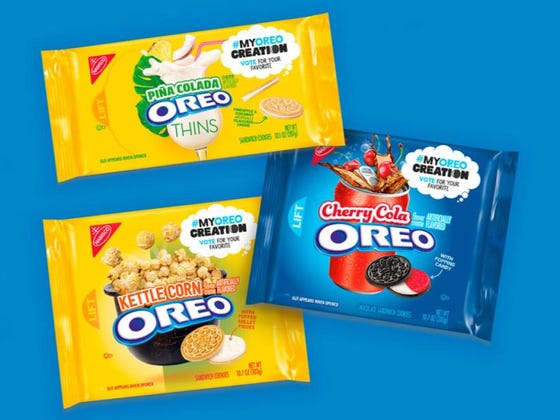 Oreo Is Releasing (At Least) 5 New Flavors Next Year: Chocolate Hazelnut, Hot & Spicy Cinnamon, Pina Colada, Kettle Corn, And Cherry Cola