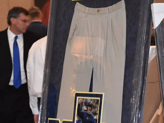 Michigan Attempted To Auction Off Autographed Jim Harbaugh Khakis, But Zero People Bid On Them