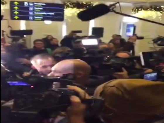 I Think Every Member Of The Lithuanian Media Greeted LaVar, LaMelo, And LiAngelo Ball At The Airport Today