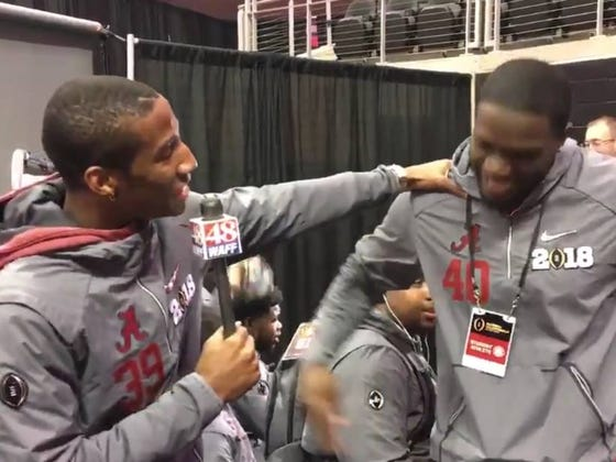 "Things Went A Bit South During Media Day When An Alabama Player Asked His Teammate About ""Ashley"""