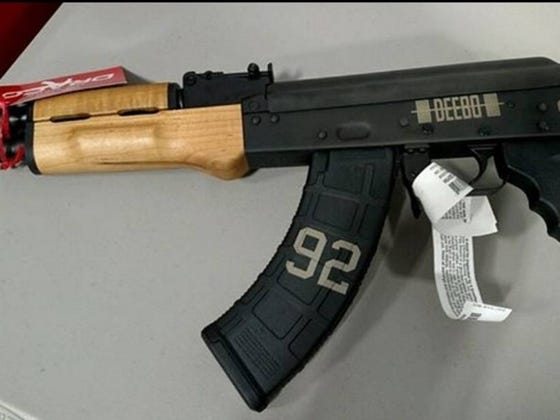 James Harrison Has His New Custom AK-47 Just in Time for the Playoffs