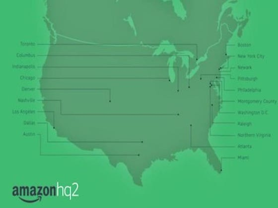 Amazon Announced The 20 Finalist Cities In The Running To Be The Home For Amazon HQ2