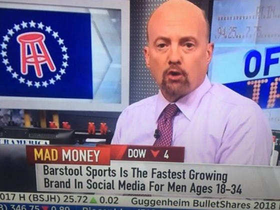 6) Barstool Sports Is Now Valued At Over 100 Million Dollars.    (GASP)