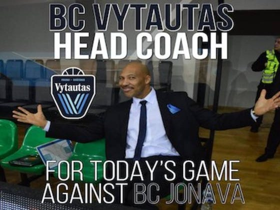 LaVar Ball Was Named Head Coach Of His Sons Lithuanian Team For Yesterday's Game, Gave An All-Time Great Hype Speech, Then Led Them To A 151-120 Win