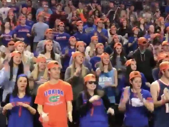 "University of Florida Basketball Fans ""Dance"" To Cardi B Bodak Yellow And...Well....Avert Your Eyes"