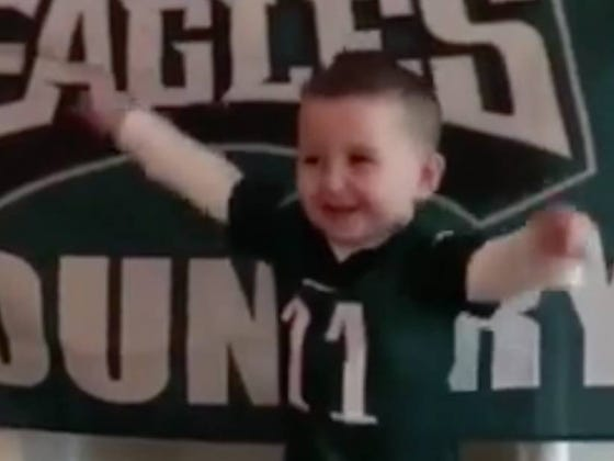 """Cutest Kid In The History Of The World Knocks """"Fly Eagles Fly"""" Out Of The Park"""