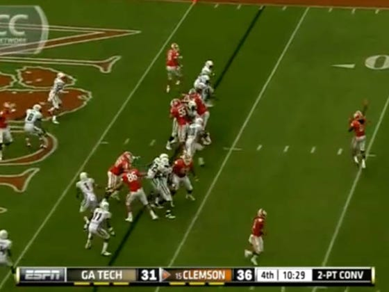 """The Nick Foles TD Catch """"Philly Special"""" Play Was Run By Clemson In 2012"""