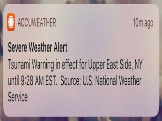 People Along The East Coast From Maine To Florida Received A False Alert Saying That A Tsunami Was Coming