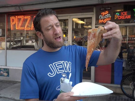 Barstool Pizza Review - Cheesy Pizza