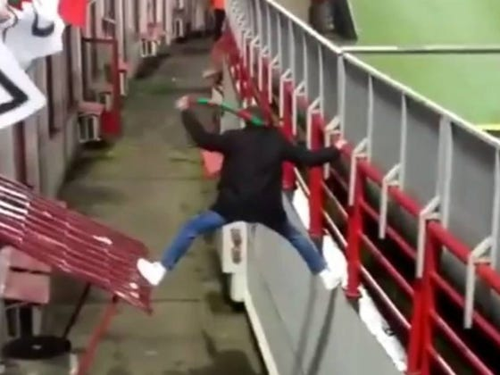 This Streaker Escaping Stadium Security At A Soccer Match Is An Exhilarating Ride