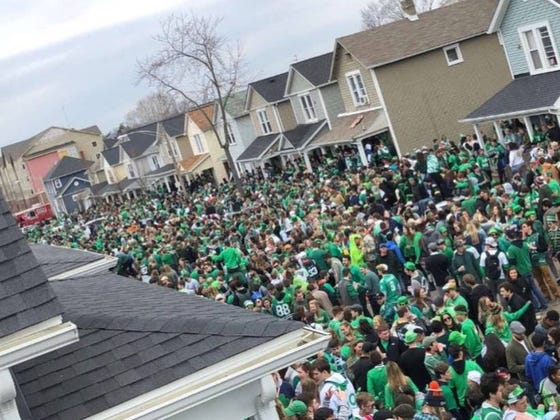 Riot Police, A Running Of The Gingers And Girl Scout Cookies: University Of Dayton Absolutely Dominated St. Patrick's Day Weekend
