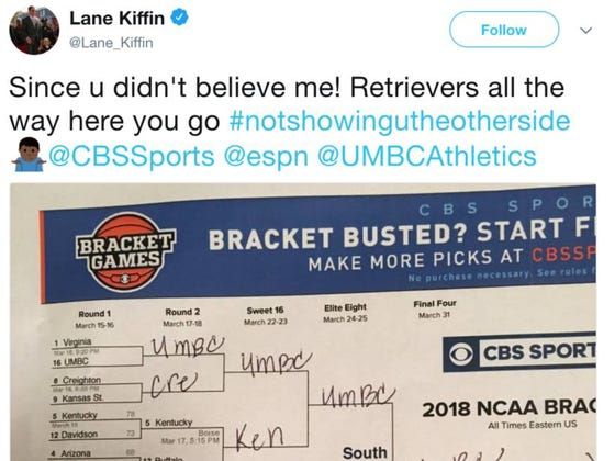 Lane Kiffin Claims To Have Had UMBC Beating Virginia In His Bracket