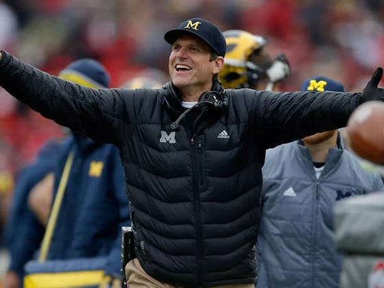 "Jim Harbaugh Has A New ""Warm"" Personality, Even Hugs Players ""Sometimes"""