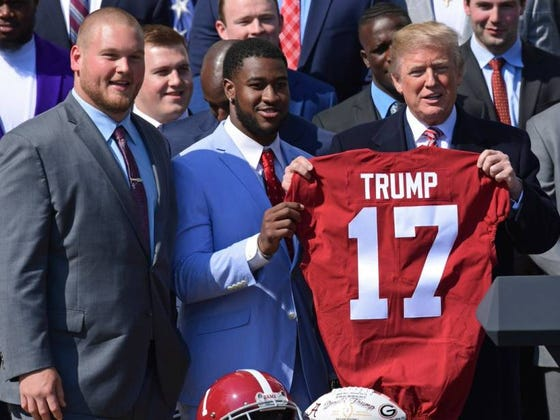 Alabama's Football Team Visits Trump, Saban Spends Time At White House Calling Recruits