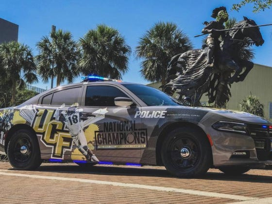 UCF Police Spend Tax Payer Money To Pimp Out Cop Car Honoring The 2017 National Championship UCF Didn't Win
