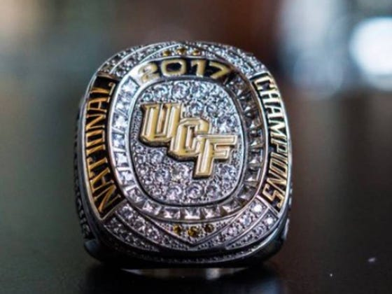 "UCF Continues Real Life Meme, Give Players National Championship Rings And Unveils A ""2017 National Champions"" Banner"