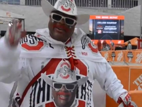 Buck-I-Guy Showed Up To OSU Legend Earle Bruce's Memorial Service In Full Costume And Turns Out That Wasn't The Best Idea
