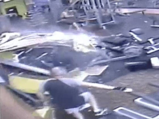 A Tesla Malfunctioned, Slammed Into A Gym And Almost Killed A Guy Who Was Working Out