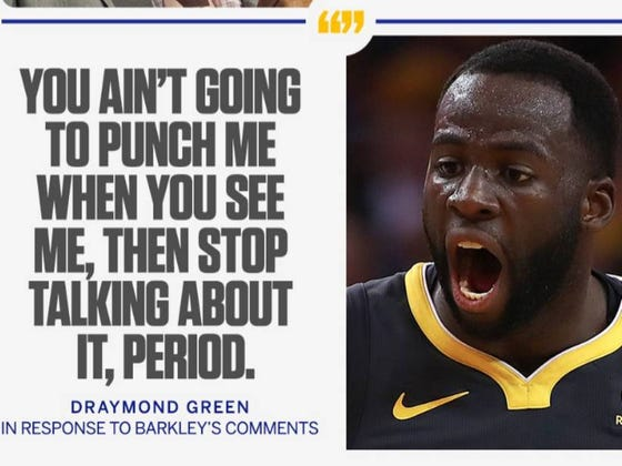Draymond Green Does NOT Want To Poke The Big Bear That Is Charles Barkley Into Punching Him In The Face