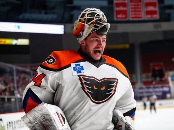 The Lehigh Valley Phantoms Won The Longest Game In AHL History After 5 Overtime Periods And 94 Saves From Alex Lyon