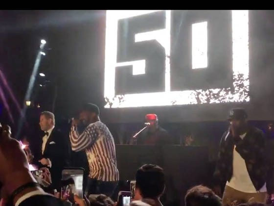 John Travolta Dancing On Stage With 50 Cent And Tony Yayo Is A Thing That Happened Last Night