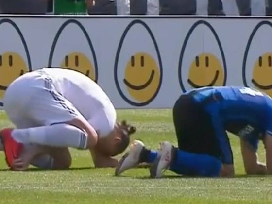 LA Galaxy's Zlatan Slaps Canadian Out Of This World & Promptly Cries