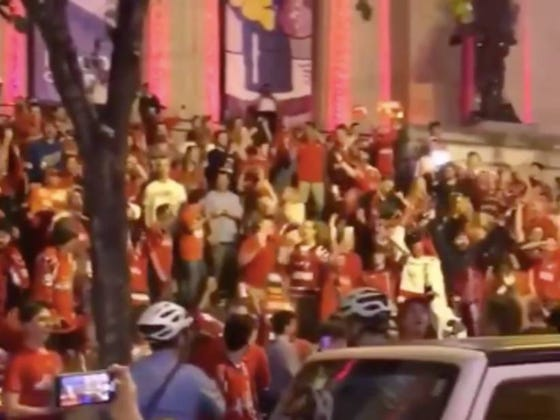 Someone Should Tell Caps Fans They Didn't Win The Cup Last Night
