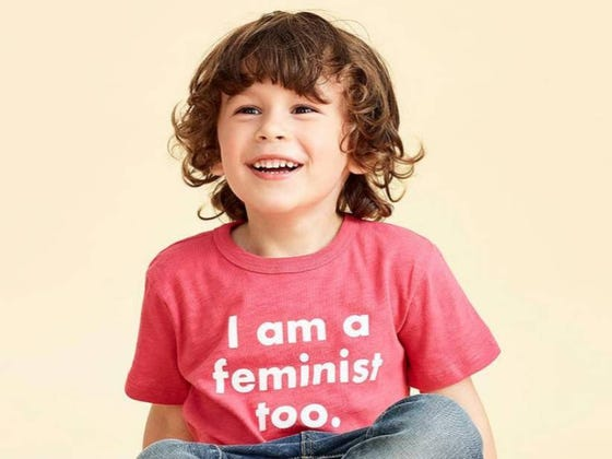 """J. Crew Stirred The Pot QUITE A Bit With Instagram Of Young Boy Wearing """"I Am A Feminist Too"""" Shirt"""