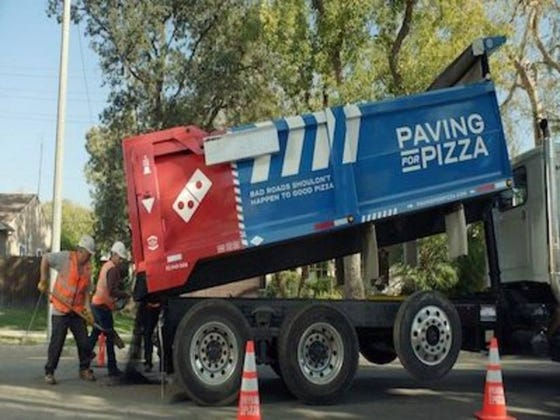 Domino's Is Fixing Potholes Around America To Save Pizzas From Getting Ruined Or Something