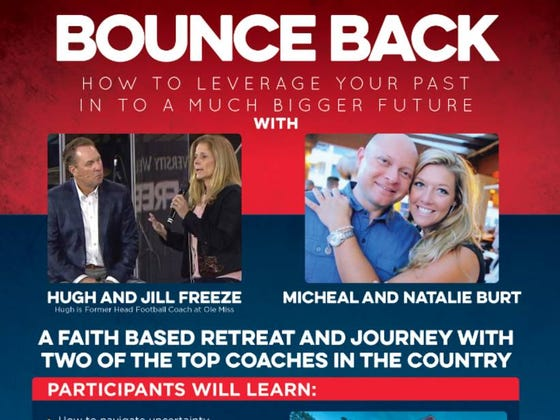 "For A Low Price of $3,250 Hugh Freeze Will Teach You How To ""Bounce Back"" At A ""Faith Based Retreat"""