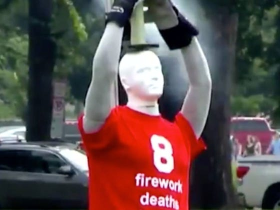 Government Blows Up A Bunch Of Mannequins In Front Of The Capital Building To Teach People About Firework Safety