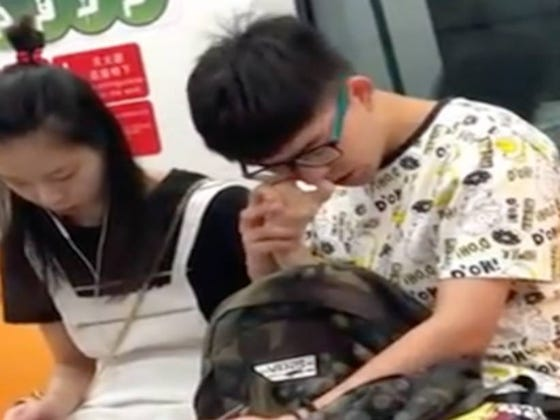 Ride Or Die Chick Lets Her Boyfriend Use Her Finger To Pick His Nose