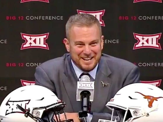 Tom Herman's Reaction To Being Asked How Many Elite Players Texas Has Was College Football Gold