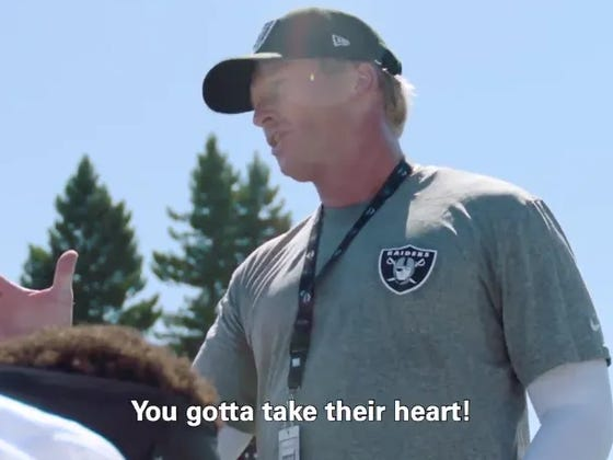 This Clip Of Jon Gruden From Hard Knocks Show This Season It's Going To Be Must Watch TV