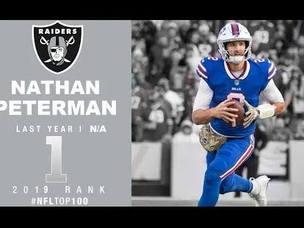 Jon Gruden Continued His Weird Crush On Nathan Peterman Today