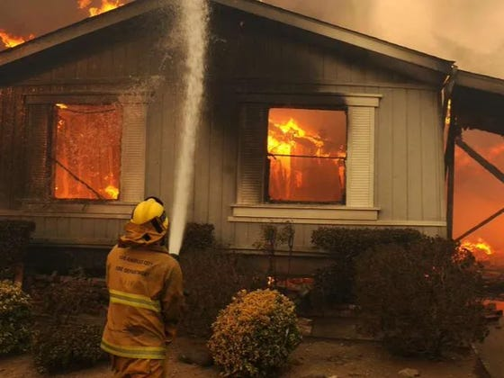 Without A Lawnmower, Michigan Man Uses Blowtorch To Cut Lawn, Lights Trailer Park On Fire