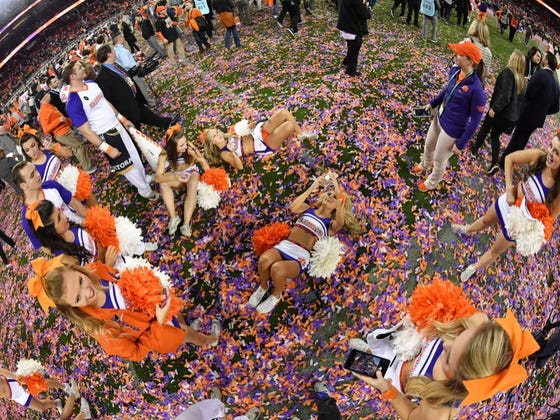 Clemson Shot Confetti During A Recruits Visit. Turns Out That's An NCAA Violation.