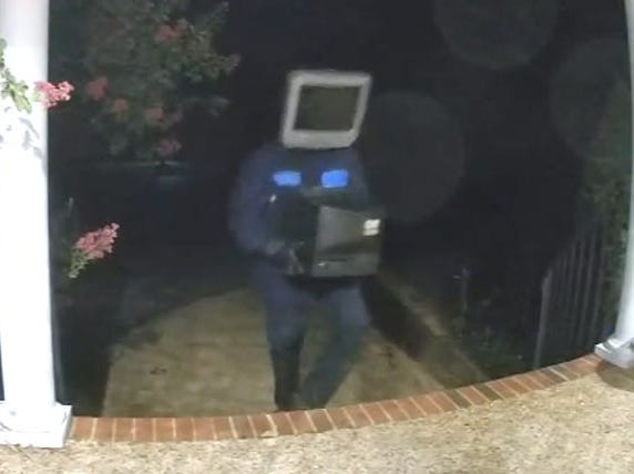 Killer Robot With TV Head Leaves Old TVs On The Porches Of Over 50 Virginia Homes