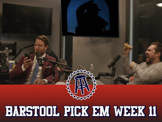 Barstool Pick Em Week 11 Full Video