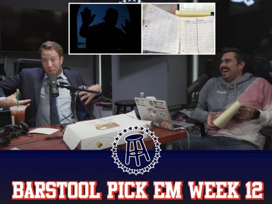 Barstool Pick Em Week 12 Full Video