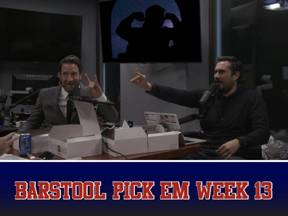 Barstool Pick Em Podcast Week 13 Full Video